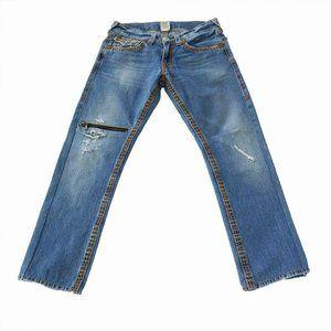 True Religion Ricky Big/Super T zip jeans